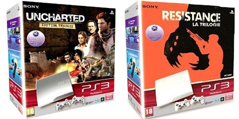 ps3 bundle uncharted resistance - Playstation 3: Zwei neue Bundles mit der Uncharted- und Resistance Trilogie gesichtet