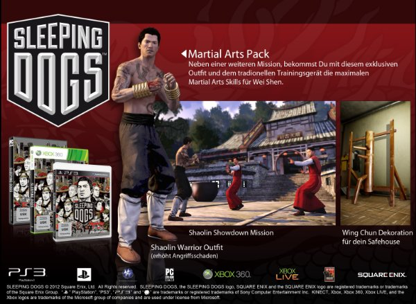 sleeping dogs material arts pack - Sleeping Dogs: Material Arts Pack für Vorbesteller