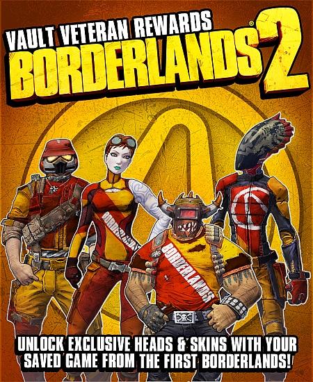 Borderlands 2 Veteran Reward - Borderlands 2: Bonis für Besitzer vom 1. Teil