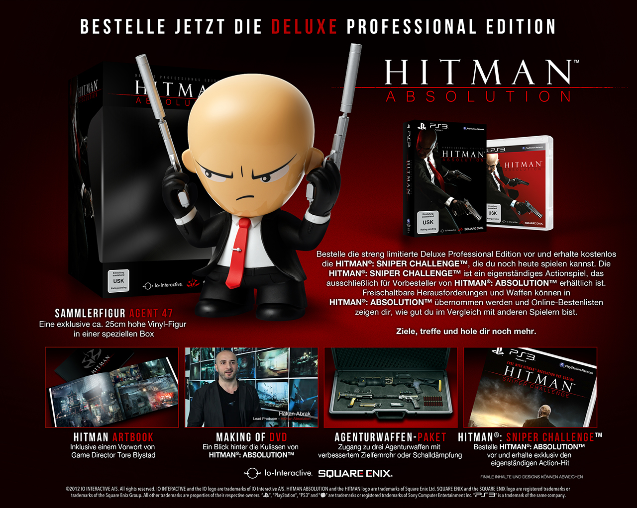hitman absolution deluxe professional edition - Hitman Absolution: (Deluxe) Professional Editions angekündigt