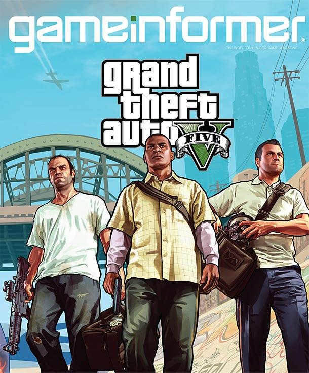 GTA V Gameinformer Cover - GTA V: GameInformer Cover zeigt 3 Charaktere