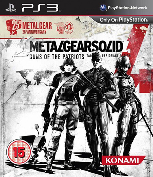 Metal Gear Solid 4 25th packshot - Metal Gear Solid 4 Guns of the Patriots: 25th Anniversary Edtion Release steht fest